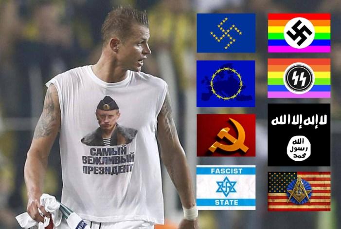 Dmitri Tarasov (Lokomotiv Mosca) rischia squalifica per maglietta con Putin