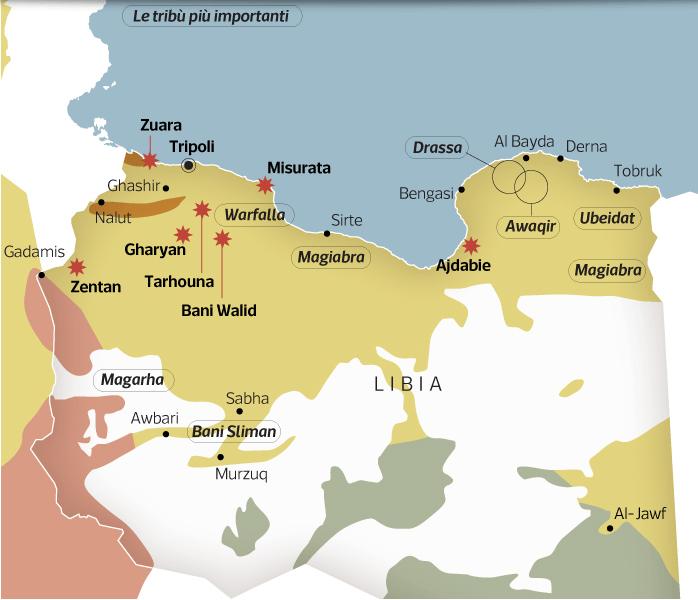 [LIBIA] Alcune mappe per saperne di più