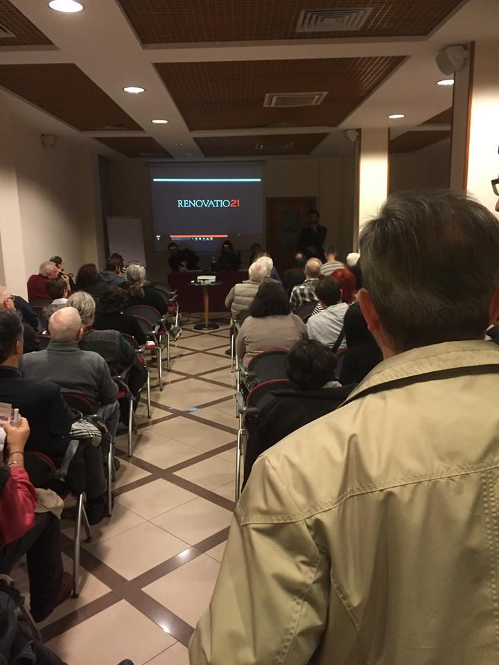Conferenza a Correggio, 1° aprile 2016.