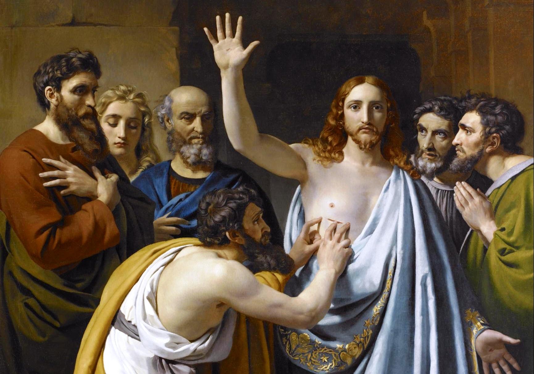 253392-Thomas-und-Jesus-auf-dem-Gemalde-The-Incredulity-of-Saint-Thomas-Die-Skepsis-des-Heiligen