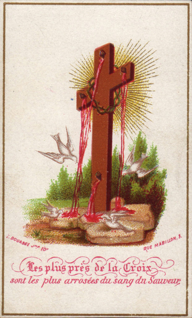 most close to Cross is more outpouring of the blood of Christ