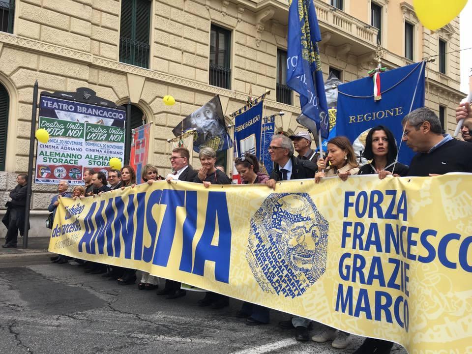 """Forza Francesco, grazie Marco"""