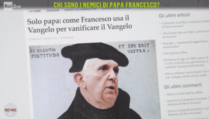 Radio Spada ripresa dalla trasmissione 'Nemo' di RAI2 tra i 'nemici di Papa Francesco'