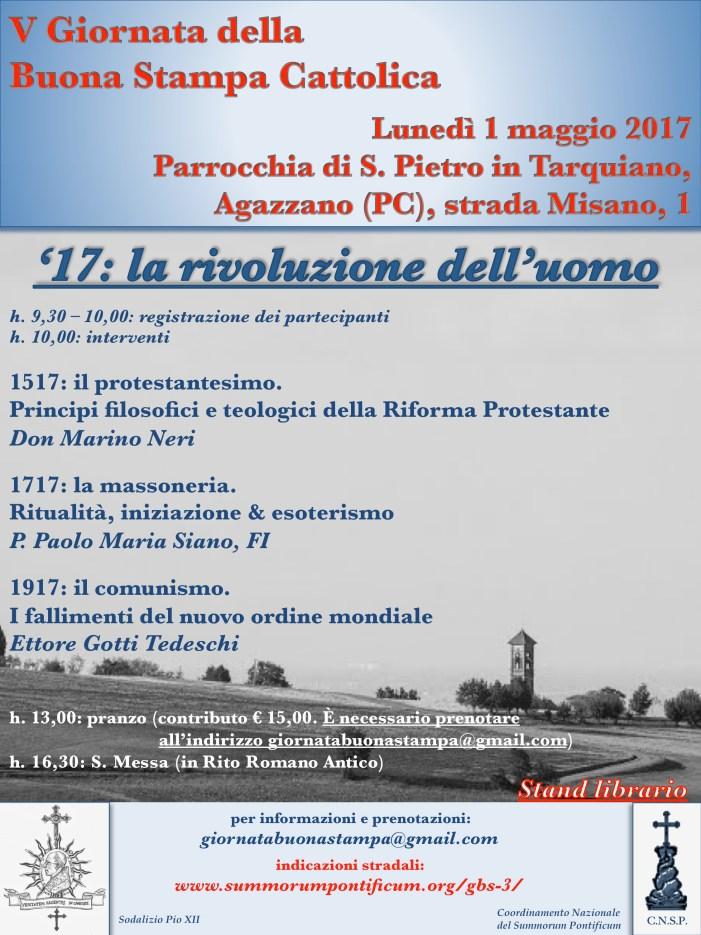 V giornata Buona Stampa Cattolica, appuntamento ad Agazzano (PC)