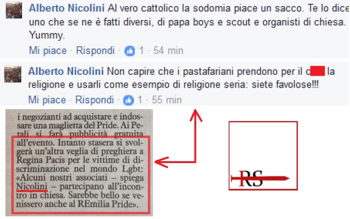 Con chi si fanno le veglie nella diocesi di Reggio Emilia (che a breve ospiterà il gay pride)?