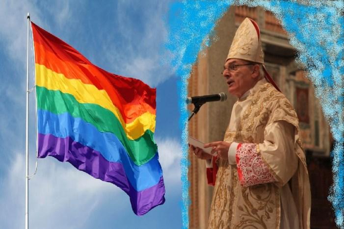 Commemorazione sacrilega – attraverso un gay pride – per la prima unione civile italiana …e la diocesi manda vicario a veglia antiomofobia