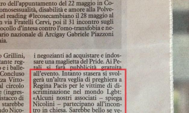 Il fronte arcobaleno serra le file per il pride di Reggio Emilia. E anche i veri cattolici.
