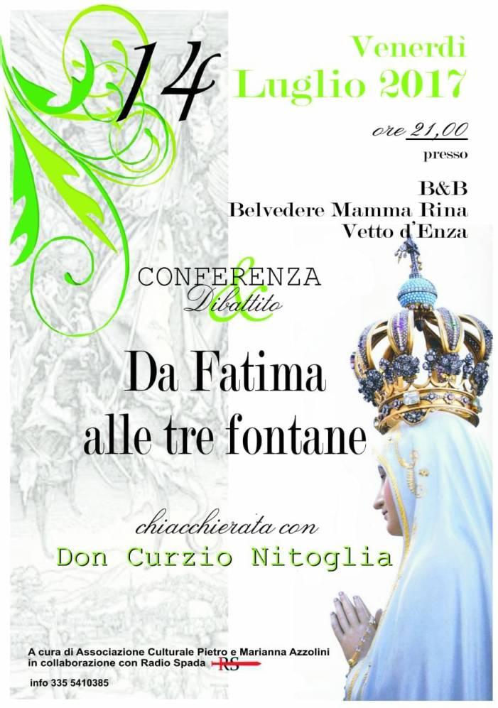 14 luglio, don Curzio Nitoglia a Vetto (RE)