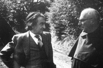 Brocard Sewell con lo scrittore Ronald Duncan (1975)
