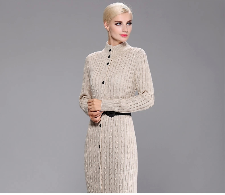 Beige-Vintage-sweater-dress-long-knitted-maxi-dresses-floor-length-buttons-up-sweater-coat