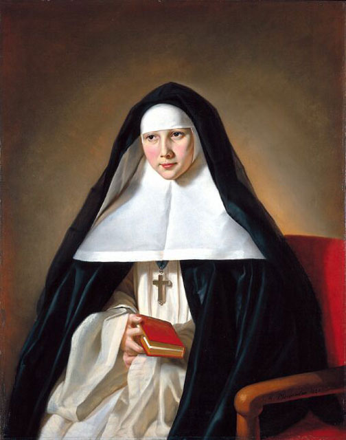 Mons. Baronio al parlatorio delle monache