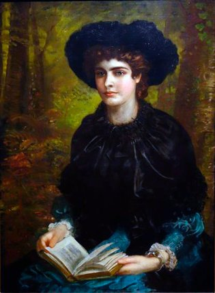 Ritratto di Constance Lloyd dipinto da Louis William Desanges (1882)