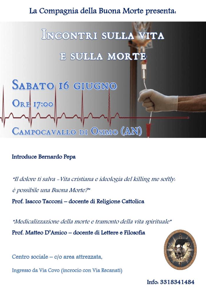 Sulla vita e sulla morte. Incontro a Osimo (AN)