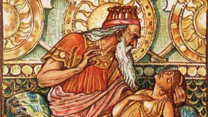 Re Midas: metafora del Giudizio di Dio.