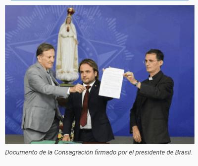 Il Brasile si riconsacra al Cuore Immacolato, alla presenza del presidente Bolsonaro