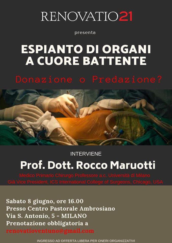 [MILANO] Conferenza sull'espianto d'organi a cuore battente