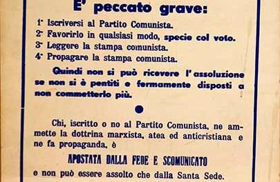 La scomunica ai comunisti.