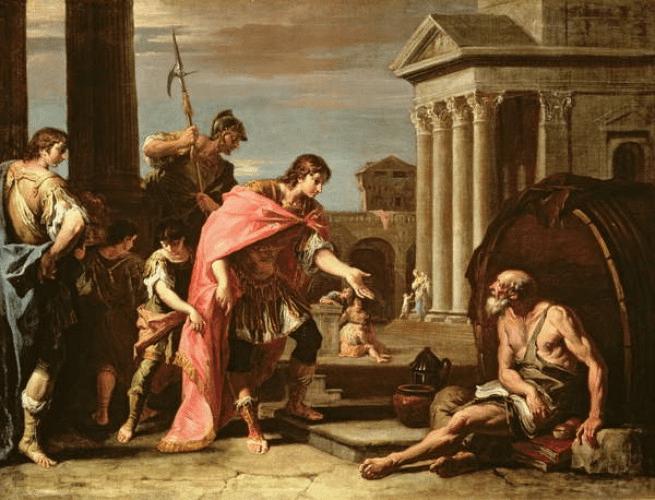 Alessandro Magno e San Luca