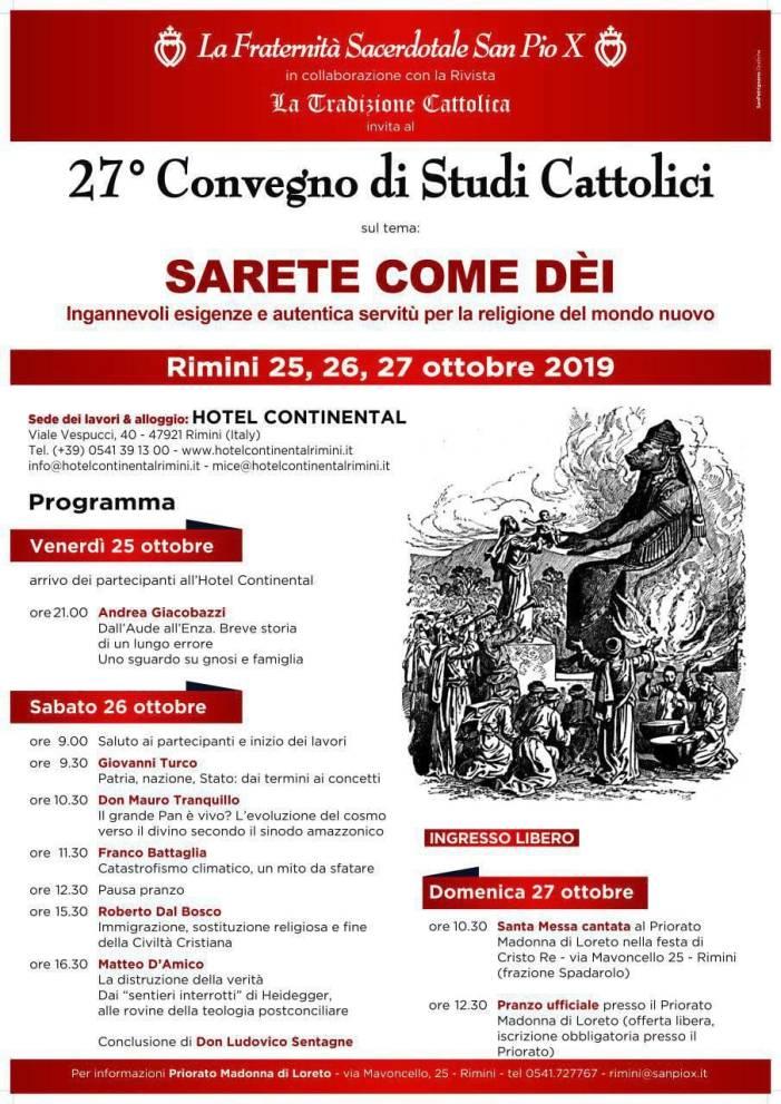Al via oggi il XXVII Convegno di Studi Cattolici a Rimini