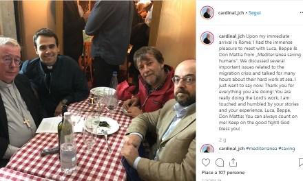 Il neocardinale Hollerich festeggia la porpora con Luca Casarini e l'ONG Mediterranea