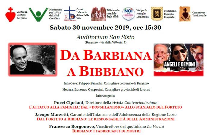 Da Barbiana a Bibbiano: conferenza a Bergamo