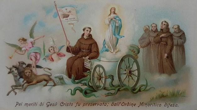 Per Christum praeservata, per Franciscum defensa