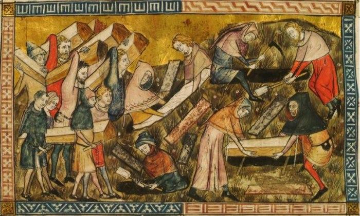 Dalle cronache, 1105: Apparizione di Maria Vergine in tempo di peste e guarigione