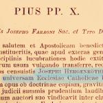 Il Breve di San Pio X che mostra l'apprezzamento per il lavoro storico del Card. Hergenröther, ora disponibile in nuova edizione