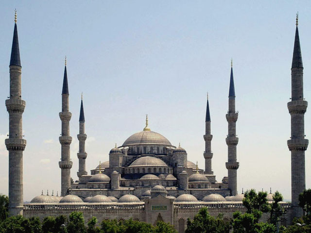 Sultan Ahmed Mosque Istanbul Turkey retouched - Dersaadet CC