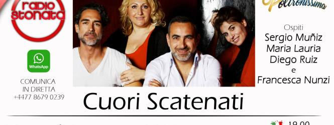 Diego Ruiz, Sergio Muniz, Francesca Nunzi e Maria Lauria ospiti in studio a POLTRONISSIMA
