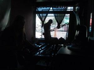 Daniel Roberts at Pirate Cat Radio in June 2010 (Photo: J. Waits)