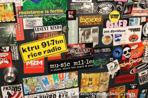 radio stickers at KPSU