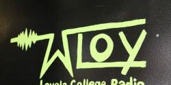 COLLEGE RADIO STATION WLOY LOGO
