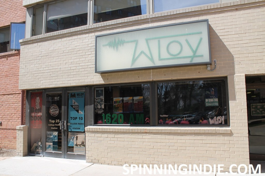 Outside view of college radio station WLOY