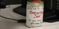 Swear Jar at college radio station UWave