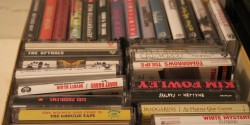 cassette tapes at college radio station The Tower