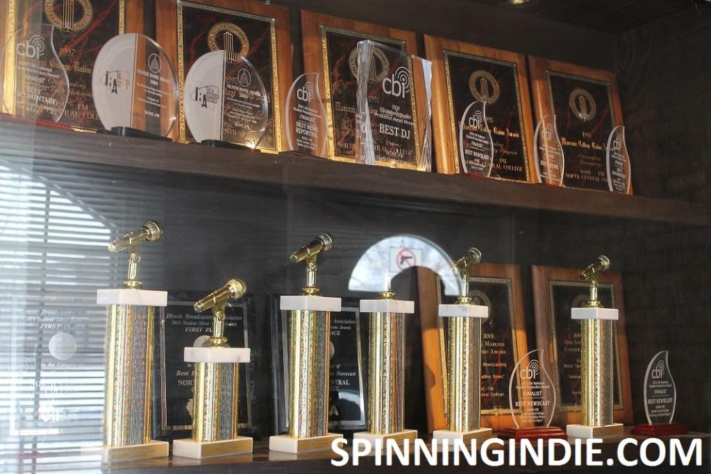 Trophy case at WONC
