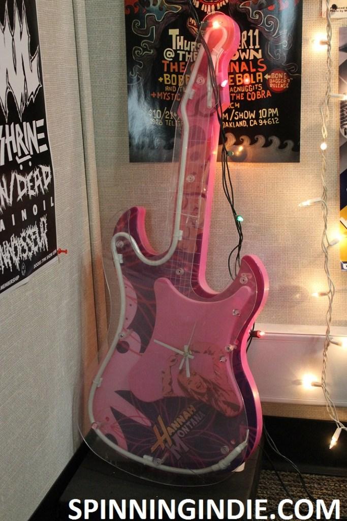 Hannah Montana guitar-shaped clock at 9th Floor Radio