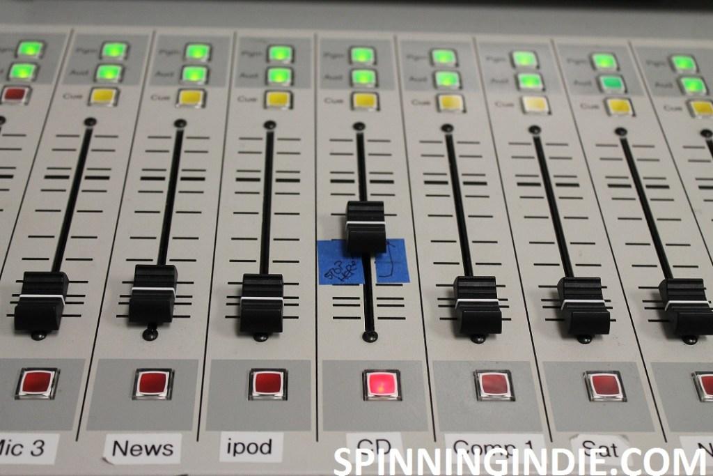 mixing board at KBCP