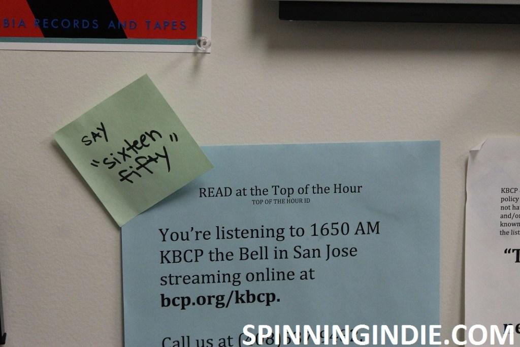 sign in KBCP studio