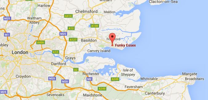 Funky Essex map