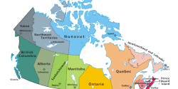 Political map of Canada via Wikipedia
