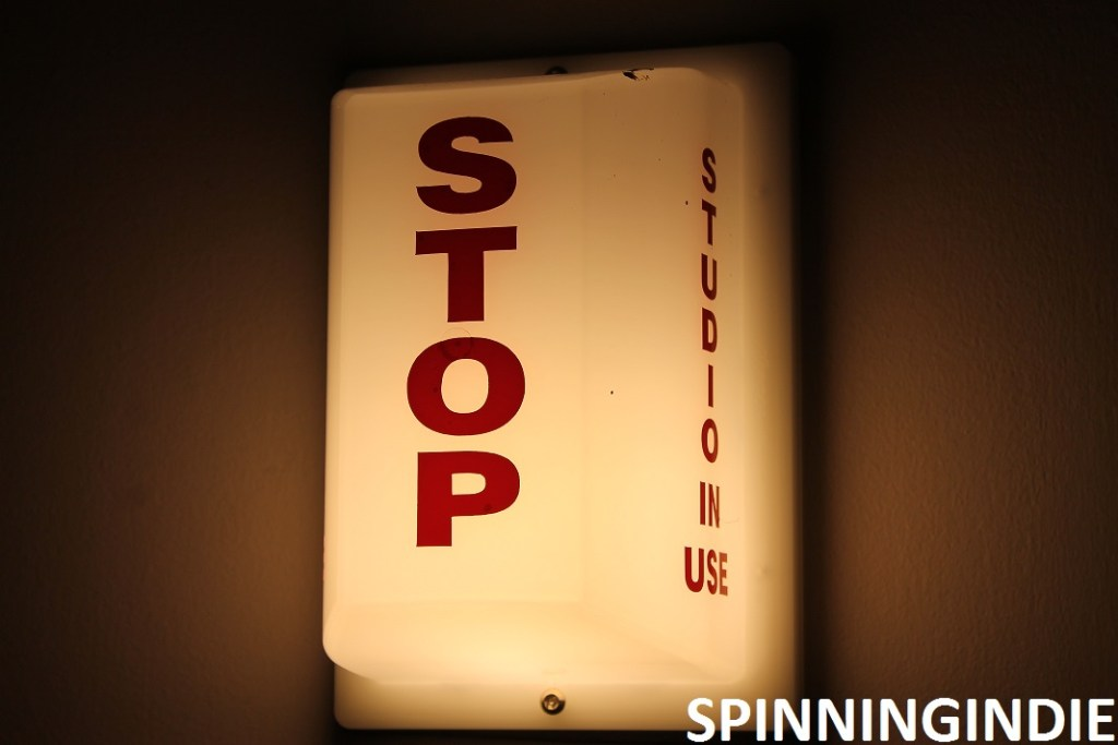 Stop. Studio in Use light at college radio station WVAU