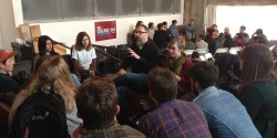 Paul Riismandel leads discussion at CMJ College Day on Tour in Portland. Photo: J. Waits