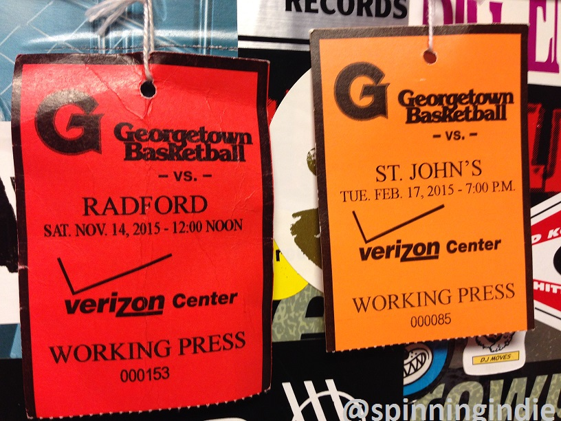 Press passes for sports broadcasters at WGTB. Photo: J. Waits