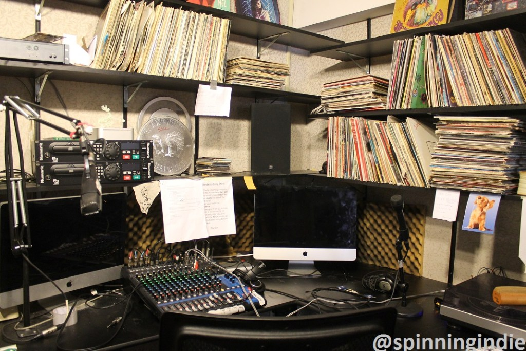 Studio at college radio station The SOCC. Photo: J. Waits