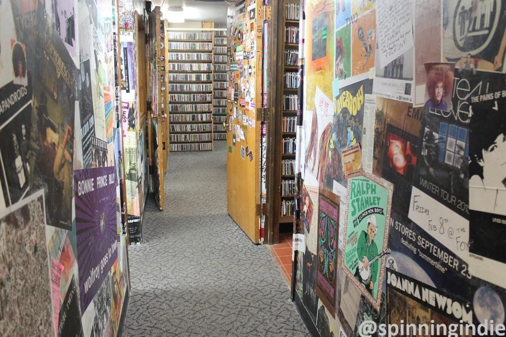 Hallway and CDs at Radio 1190. Photo: J. Waits