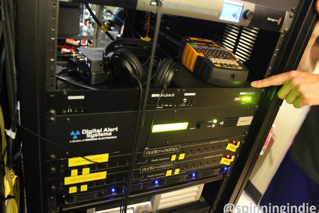 KOMF-LP's rack at Denver Open Media. Photo: J. Waits