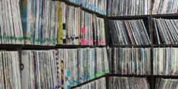 Vinyl records at college radio station Radio 1190. Photo: J. Waits