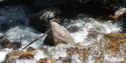 Listening to our environment. Rocky Mountain National Park waterfall photo by J. Waits